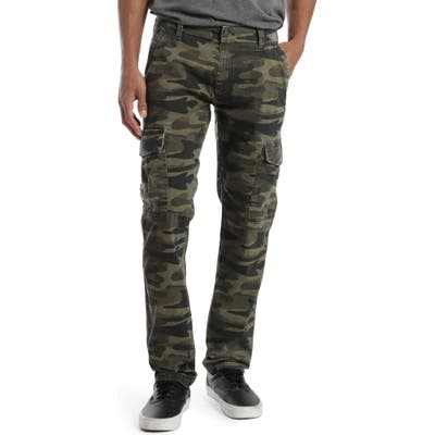 Mavi Jeans Marcus Slim Straight Leg Cargo Pants, Green