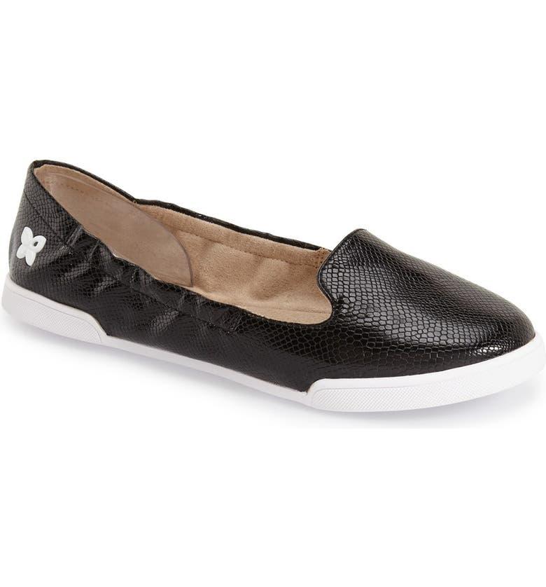 BUTTERFLY TWISTS 'Jade' Foldable Genuine Calf Hair Sneaker Flat, Main, color, 001