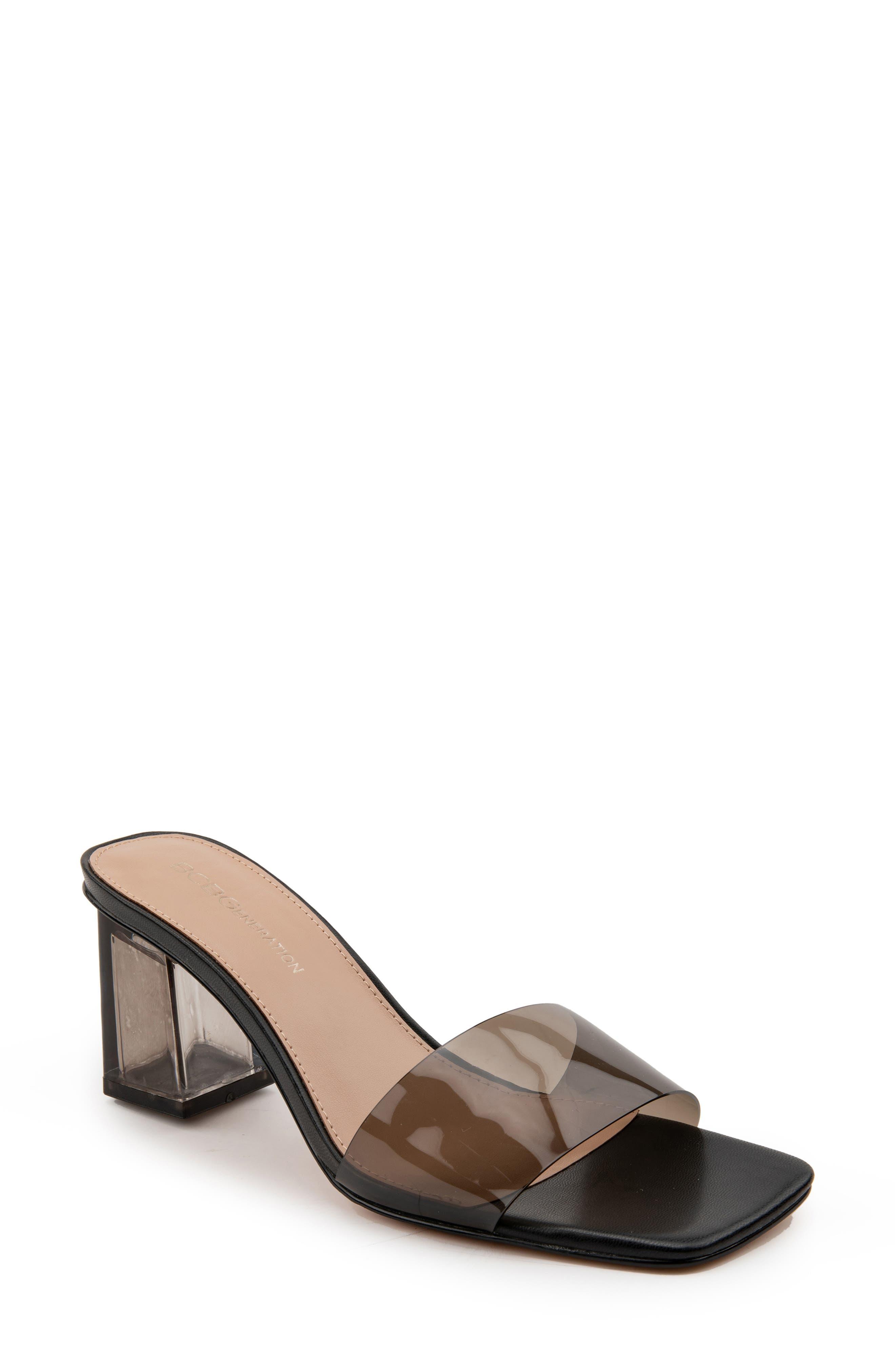 Luckee Block Heel Slide Sandal