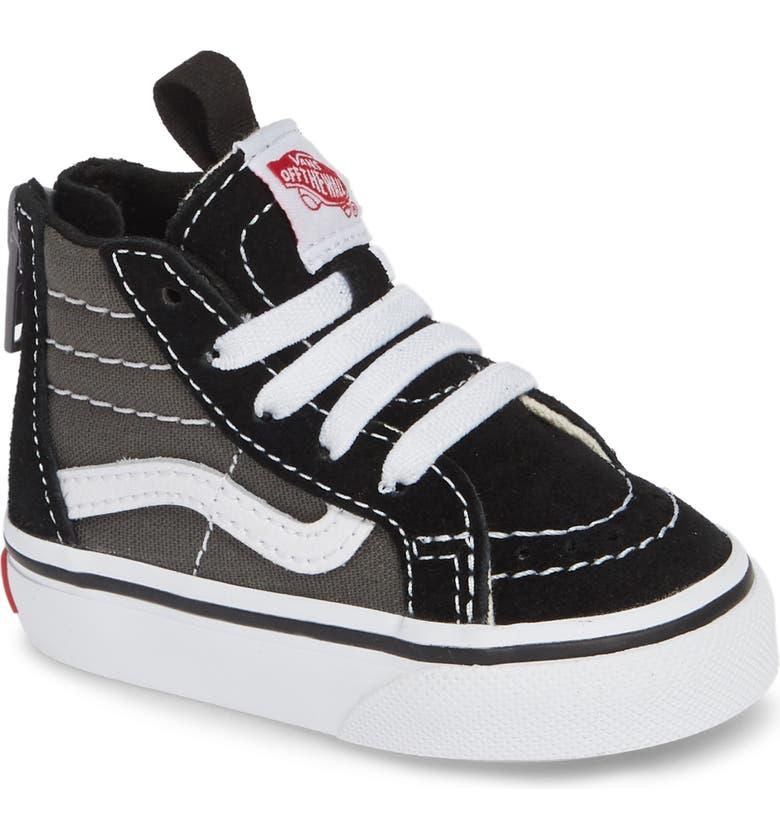 VANS 'Sk8-Hi' Sneaker, Main, color, BLACK/ CHARCOAL
