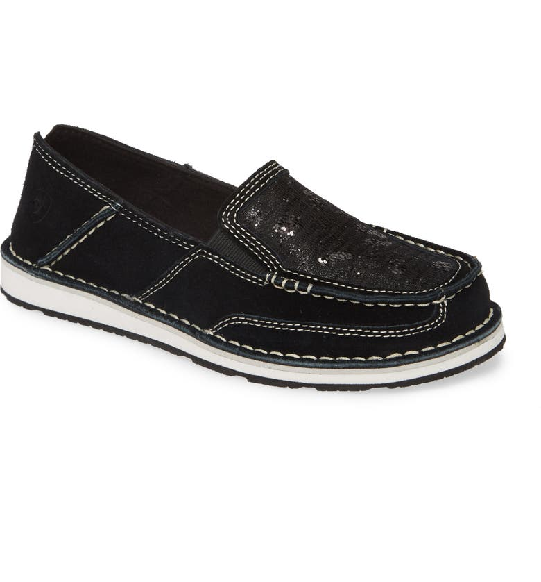 ARIAT Cruiser Slip-On Loafer, Main, color, BLACK LEATHER/ SEQUINS