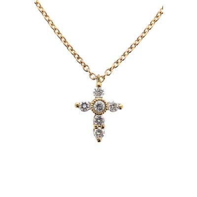 Bony Levy Diamond Mini Cross Necklace (Nordstrom Exclusive)