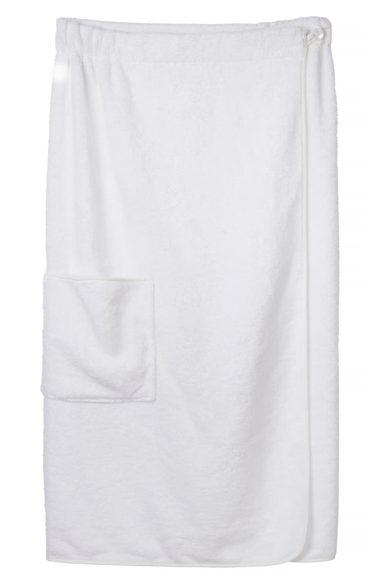 THE WHITE COMPANY Spa Wrap Towel, Main, color, WHITE