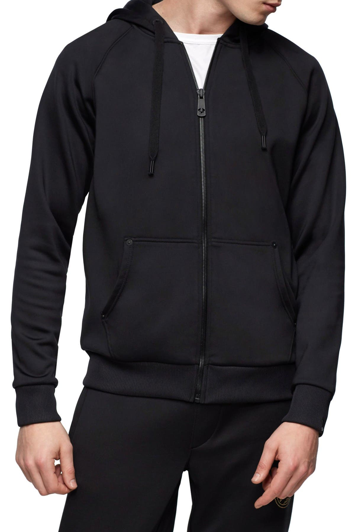 Image of True Religion Studded Graphic Zip Jacket