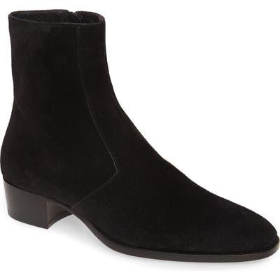Saint Laurent Wyatt Zip Boot, Black