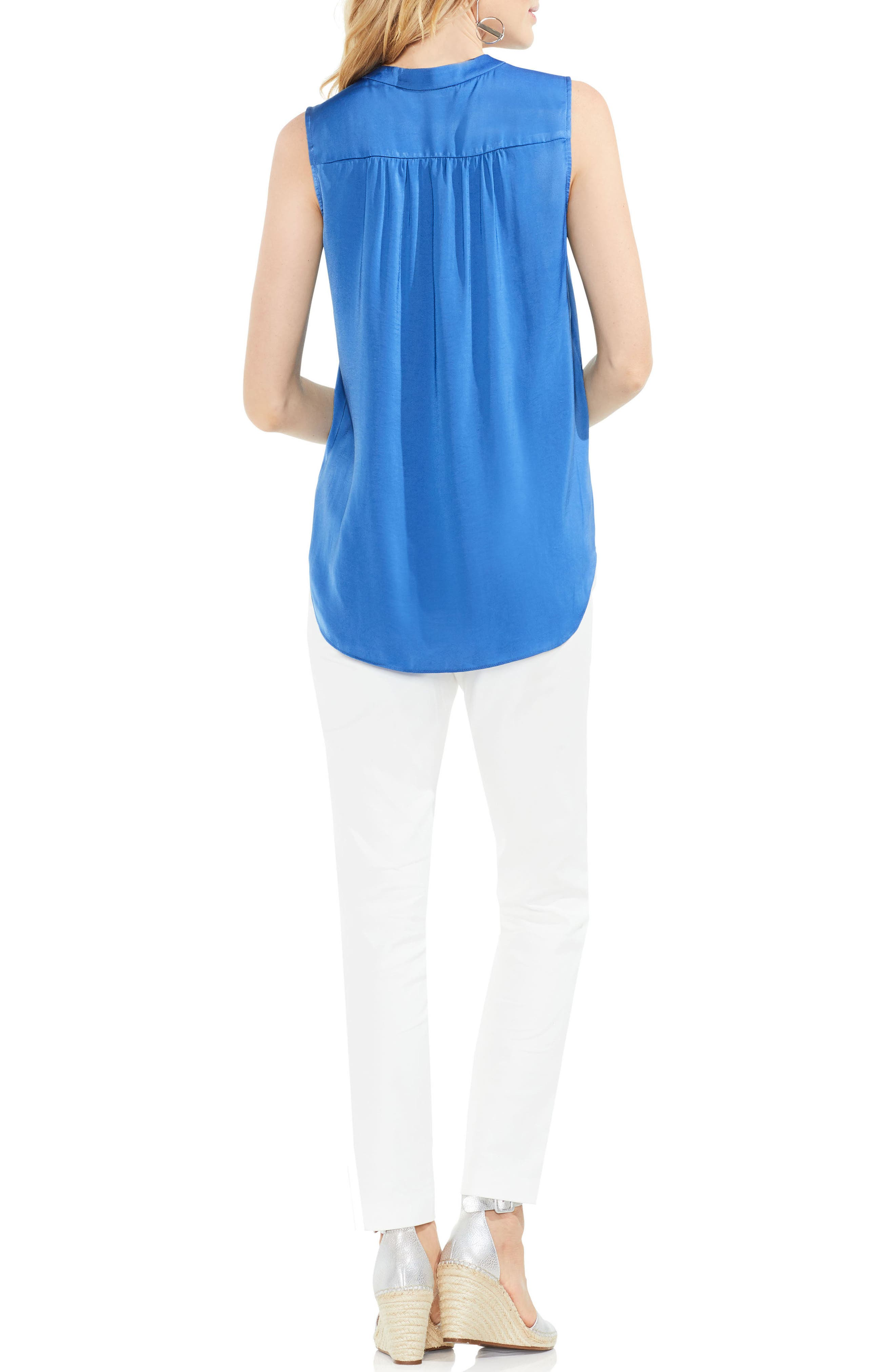 ,                             Rumpled Satin Blouse,                             Alternate thumbnail 180, color,                             452