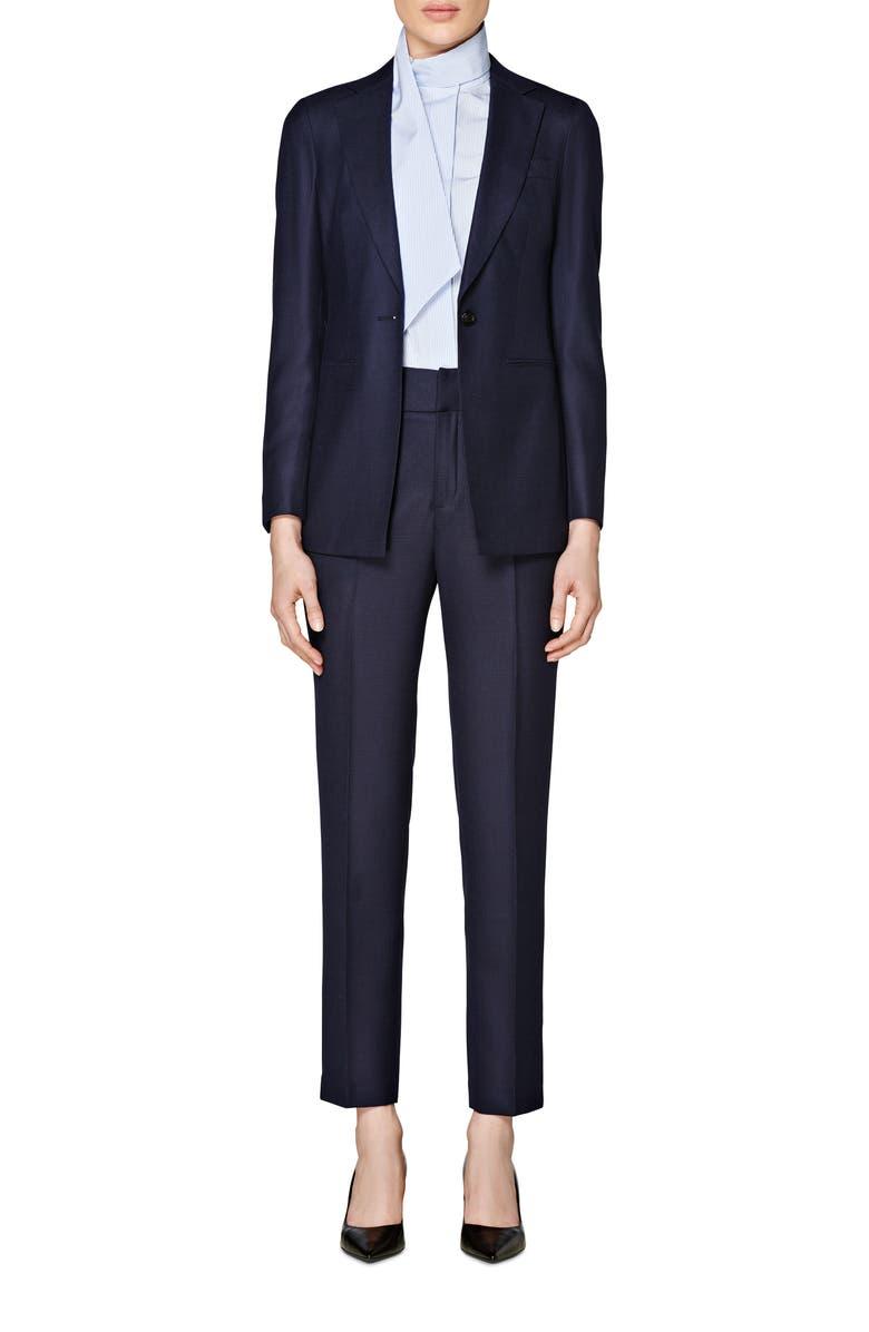 SUISTUDIO Cameron Slim Fit Single Breasted Jacket, Main, color, NAVY