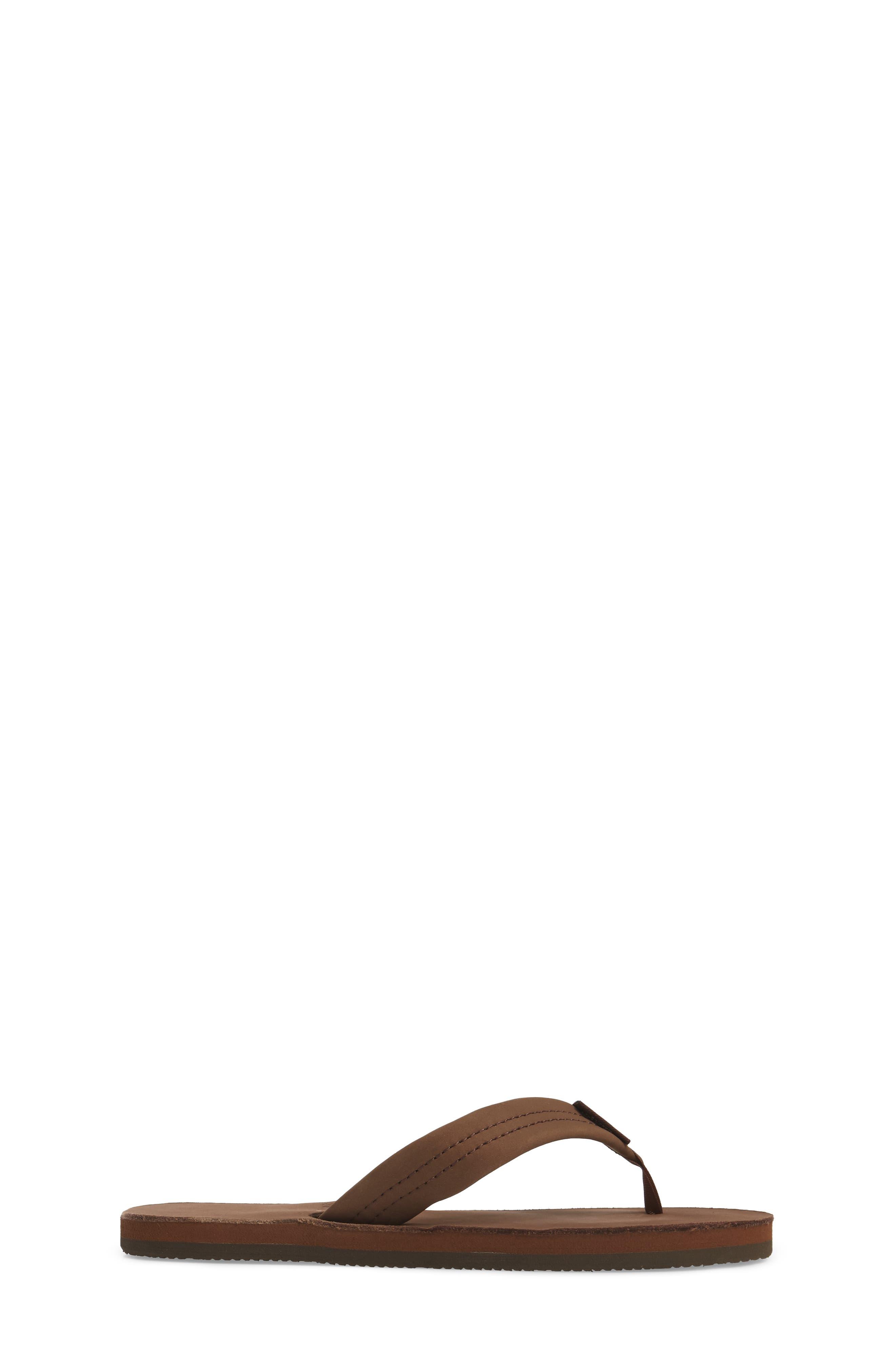 ,                             Rainbow Leather Sandal,                             Alternate thumbnail 3, color,                             EXPRESSO
