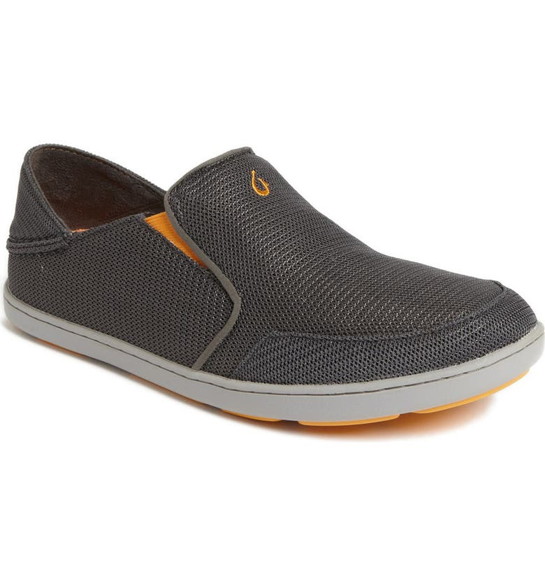 OLUKAI Nohea Mesh Slip-On, Main, color, DARK SHADOW/ DARK SHADOW