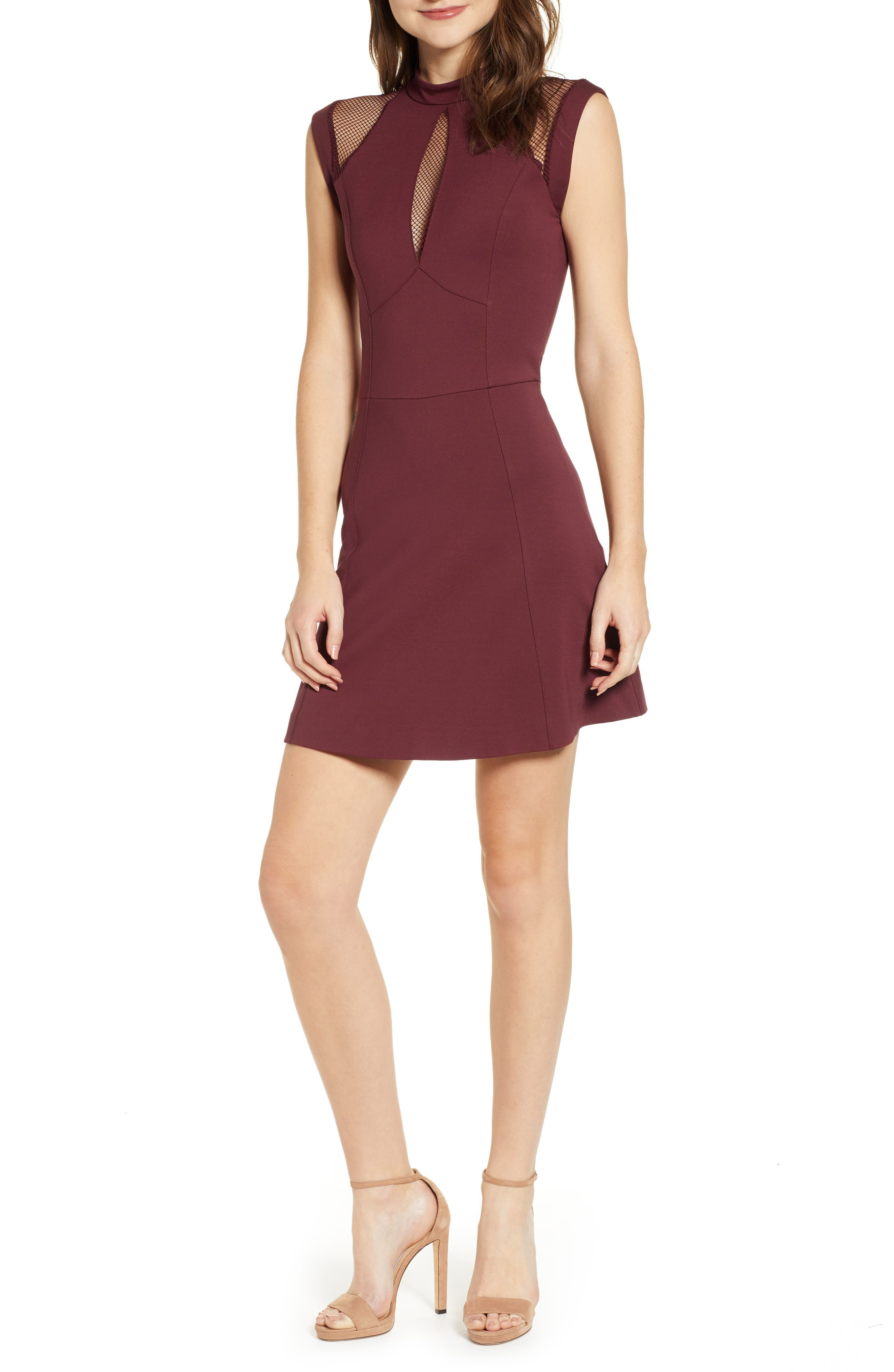 Sentimental Ny Galactica Fit & Flare Dress, Red