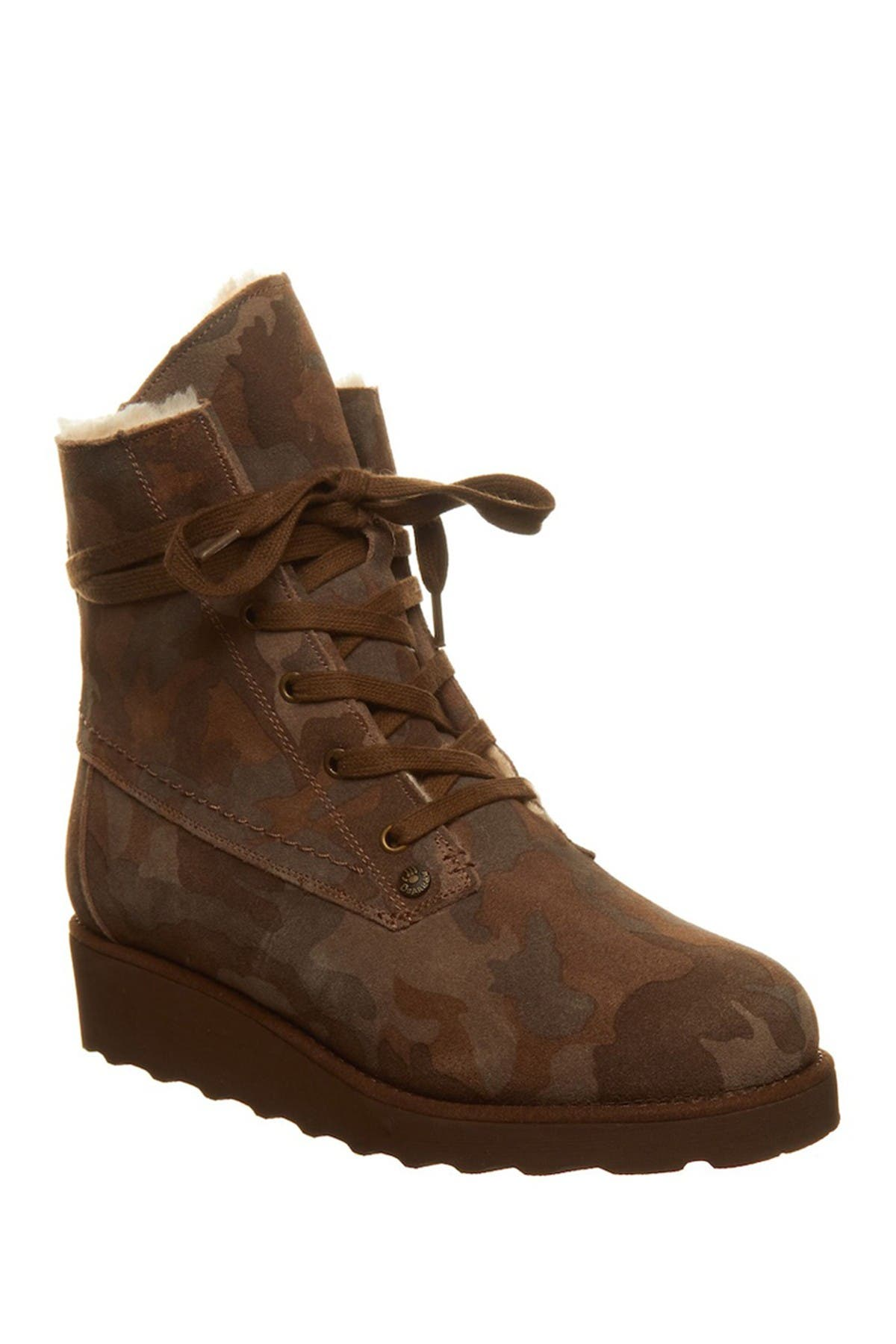 Image of BEARPAW Krista Genuine Shearling Lined Lace-Up Boot