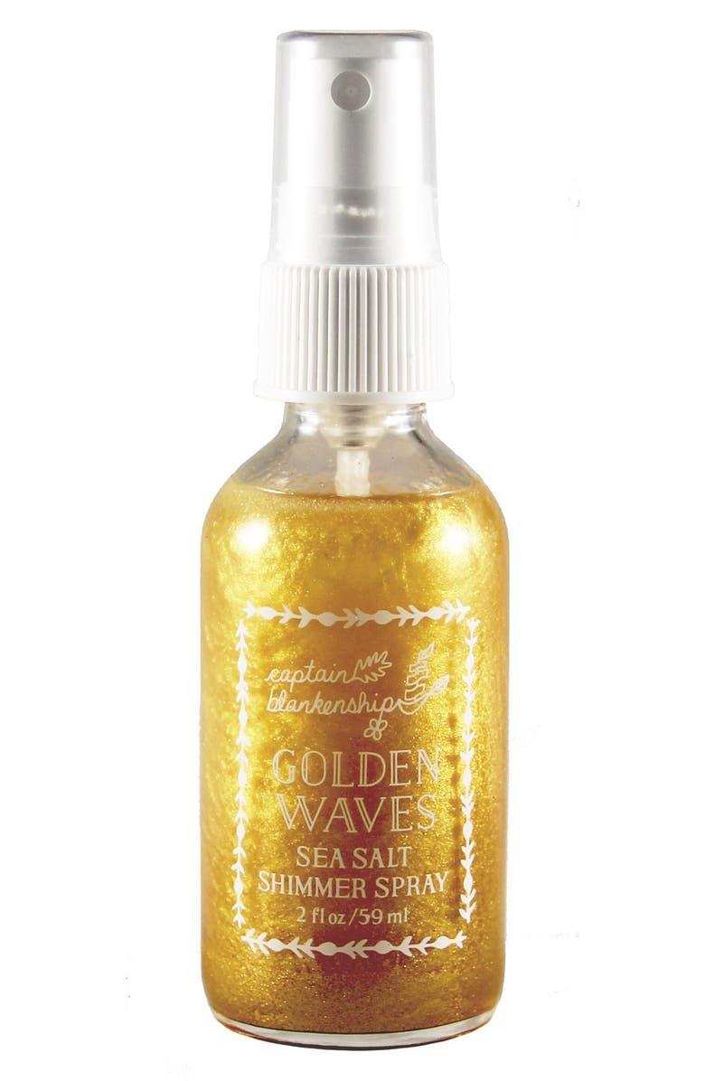 CAPTAIN BLANKENSHIP Golden Waves Sea Salt Shimmer Spray, Main, color, NO COLOR