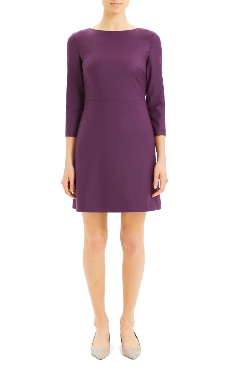 THEORY Kamillina Long Sleeve Dress, Main, color, 587
