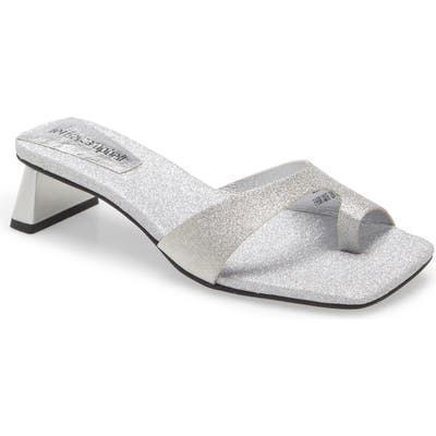 Jeffrey Campbell Teclado-2 Slide Sandal, Metallic