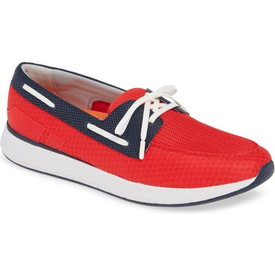 Swims Breeze Wave Boat Shoe, Red