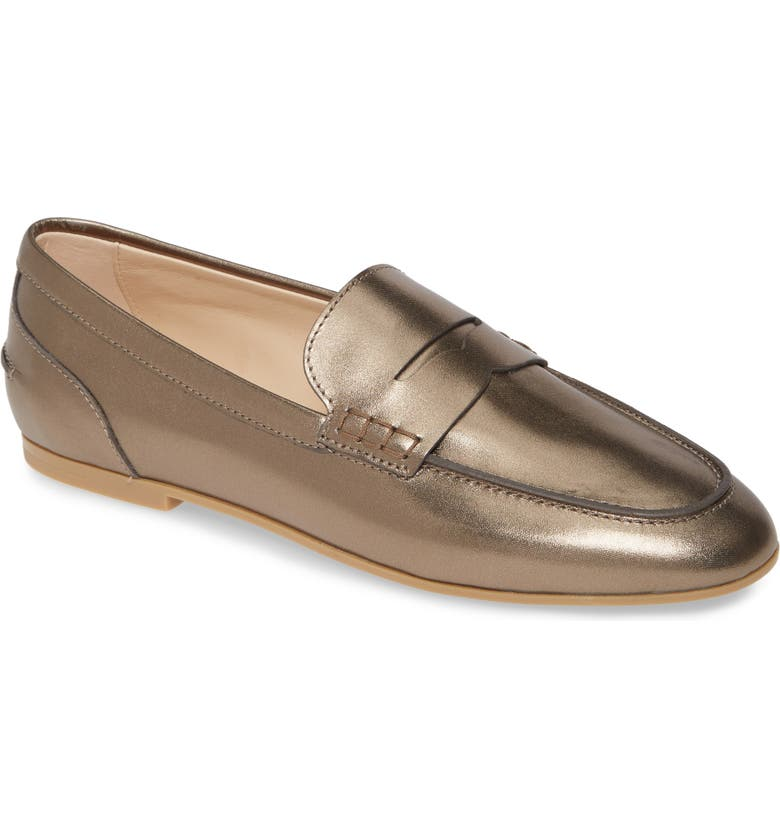 TOD'S Penny Loafer, Main, color, SILVER