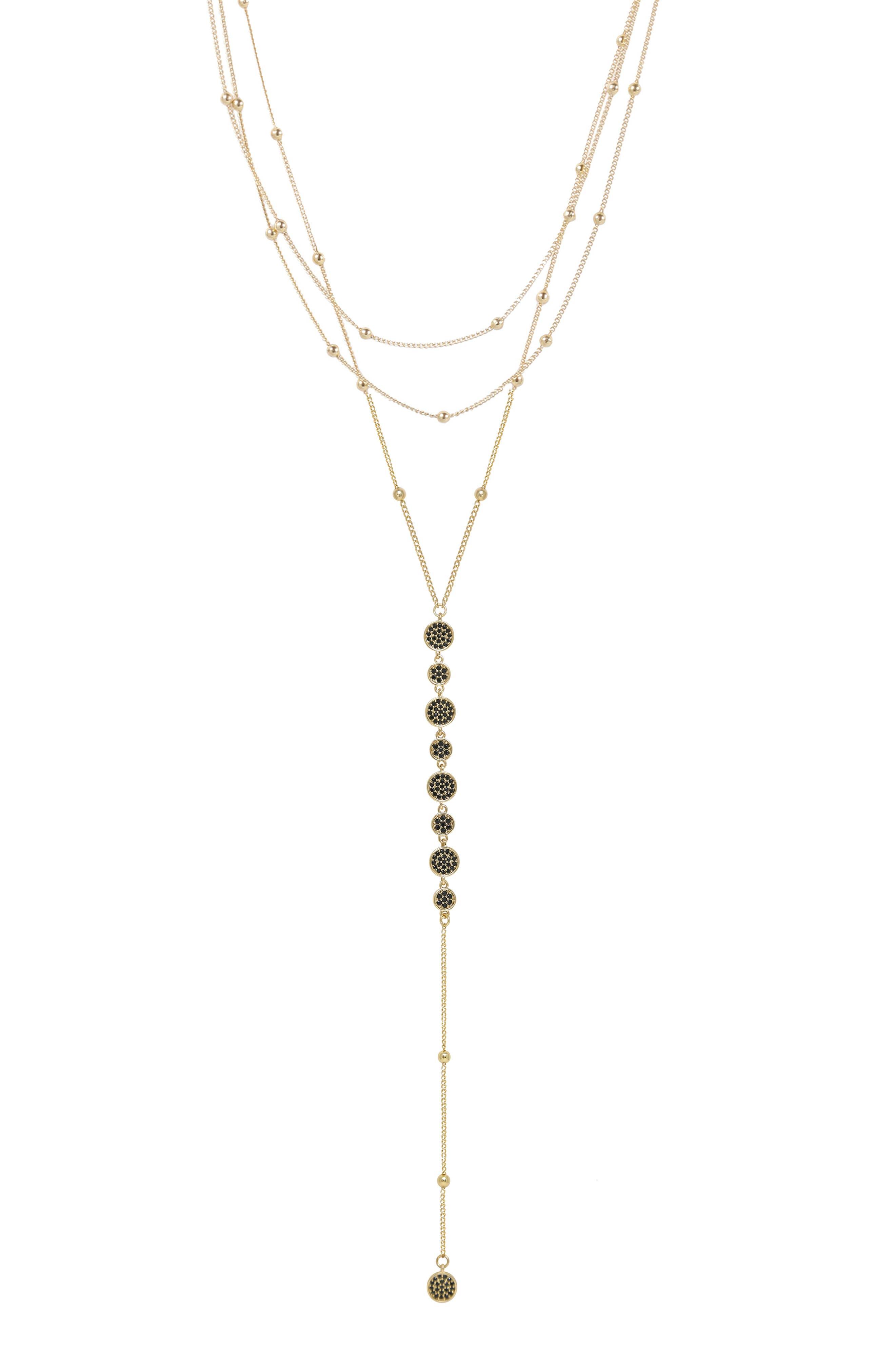 Triple Layer Y-Necklace