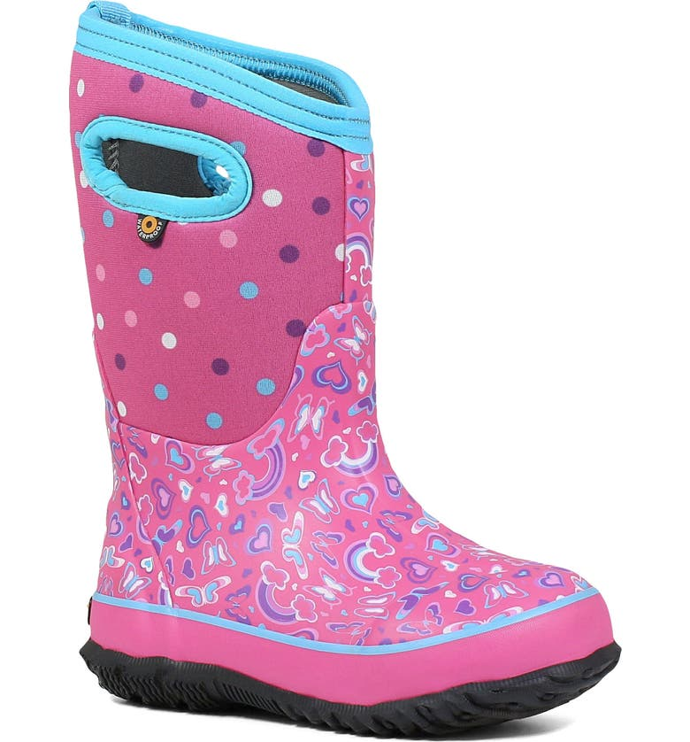 BOGS Neo-Classic Rainbow Insulated Waterproof Boot, Main, color, 690