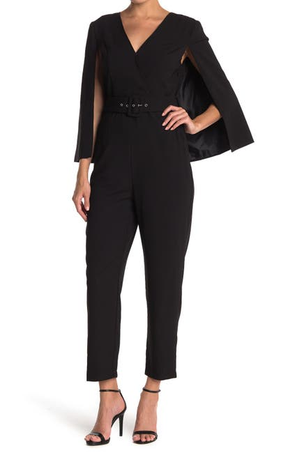 Image of Jealous Tomato Cape Jacket Belted Jumpsuit