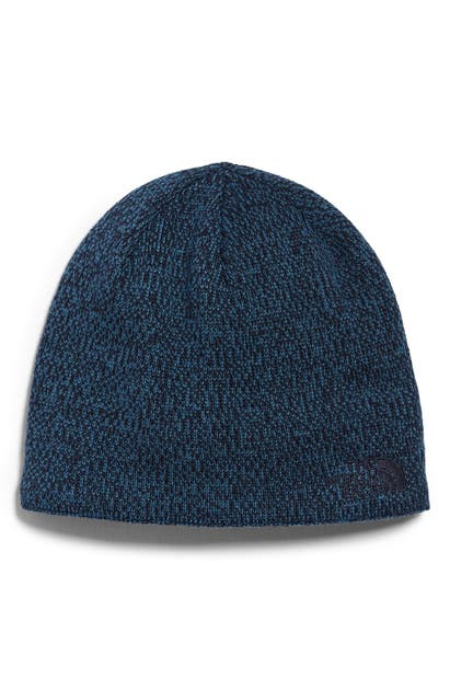 The North Face Jim Beanie In Aviator Navy/ Mallard Blue
