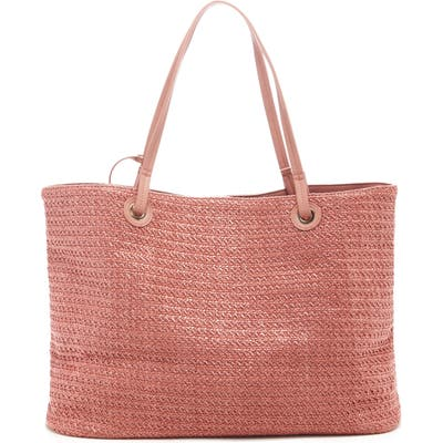 Sole Society Apryl Woven Tote - Coral