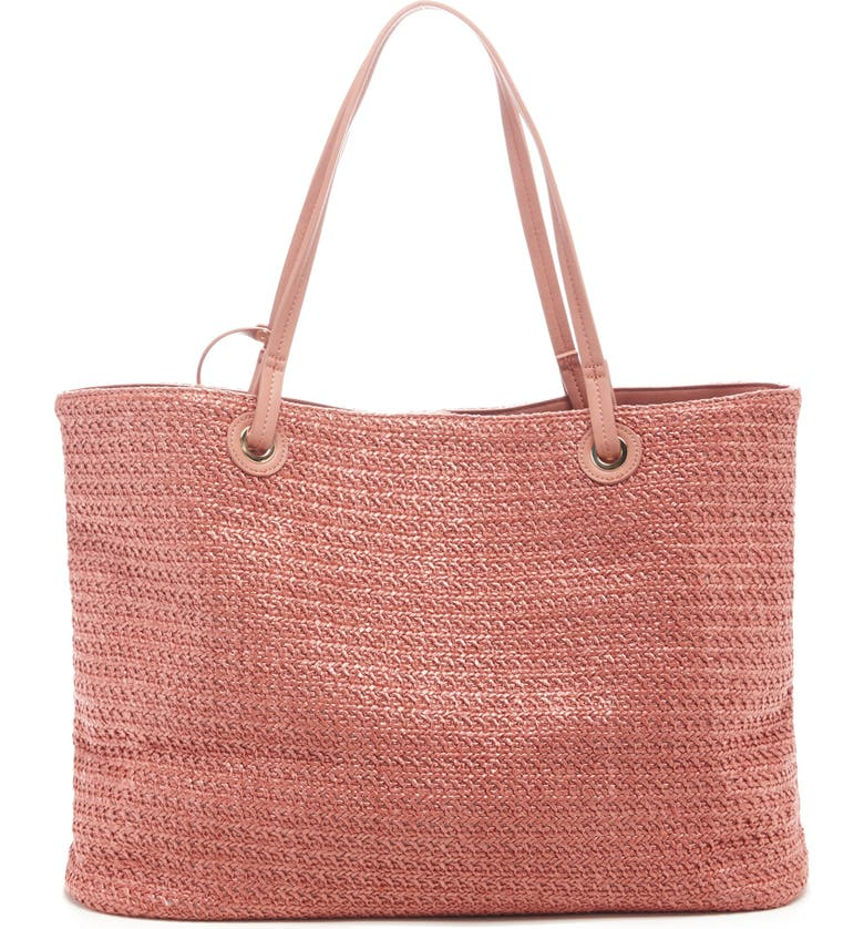 SOLE SOCIETY Apryl Woven Tote, Main, color, CANYON COMBO