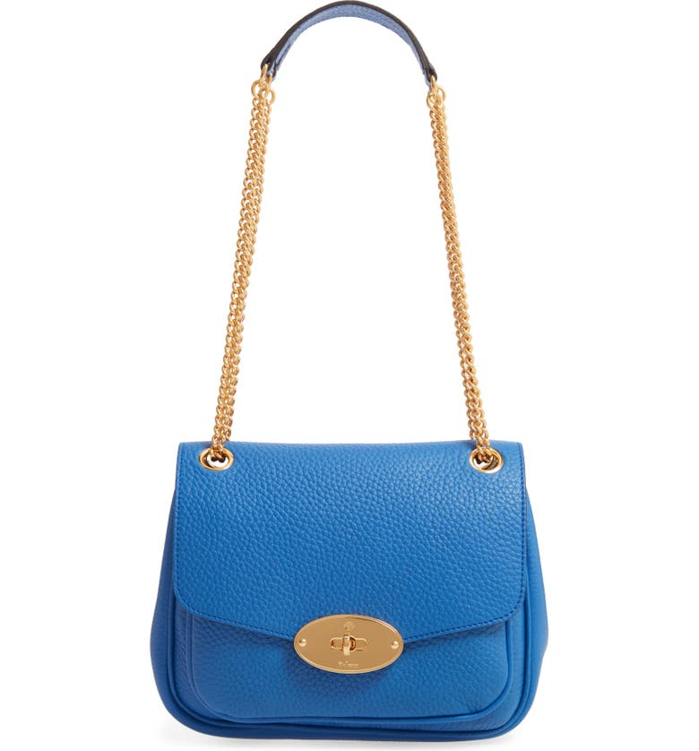 MULBERRY Small Darley Leather Convertible Shoulder Bag, Main, color, PORCELAIN BLUE
