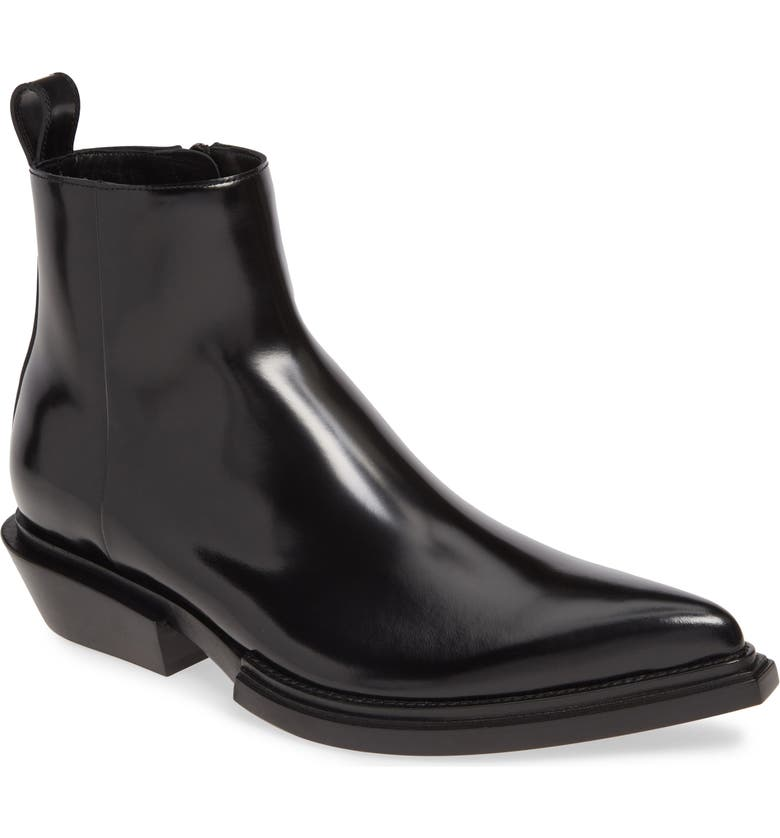 BALENCIAGA Santiag Zip Boot, Main, color, BLACK