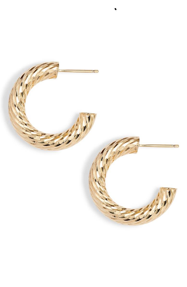 JENNIFER ZEUNER Lupe Hoop Earrings, Main, color, 710