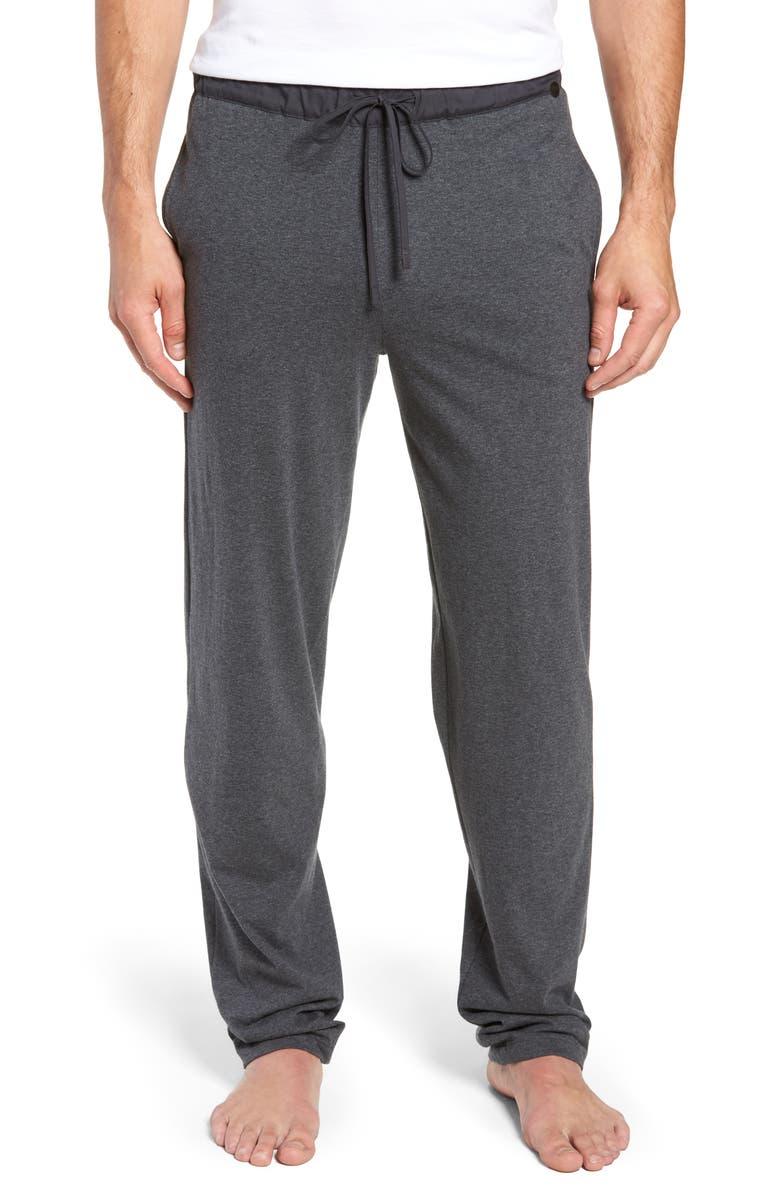 HANRO Night & Day Knit Lounge Pants, Main, color, ENIGMA MELANGE