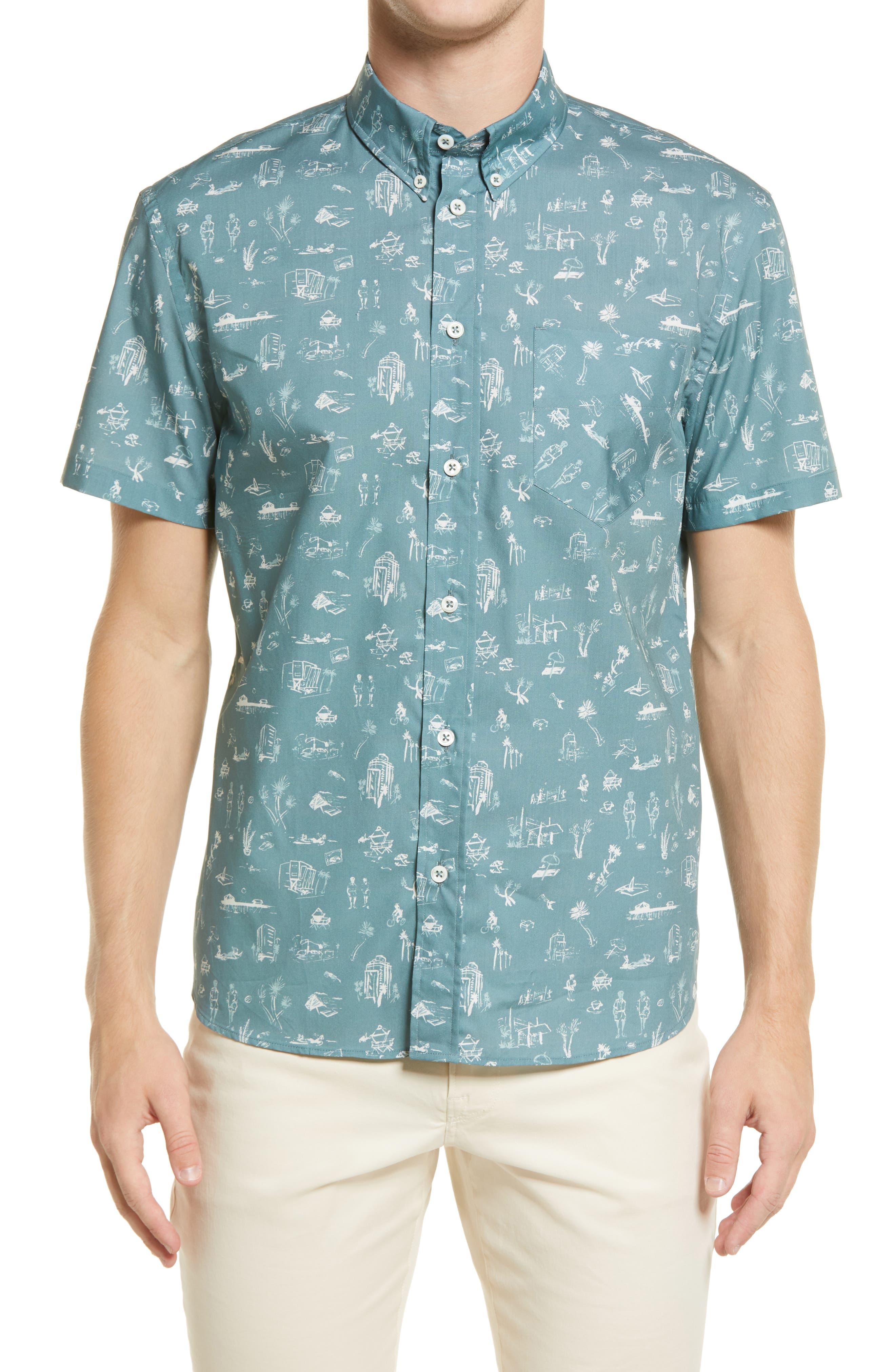 Boardwalk Standard Fit Short Sleeve Button-Down Shirt