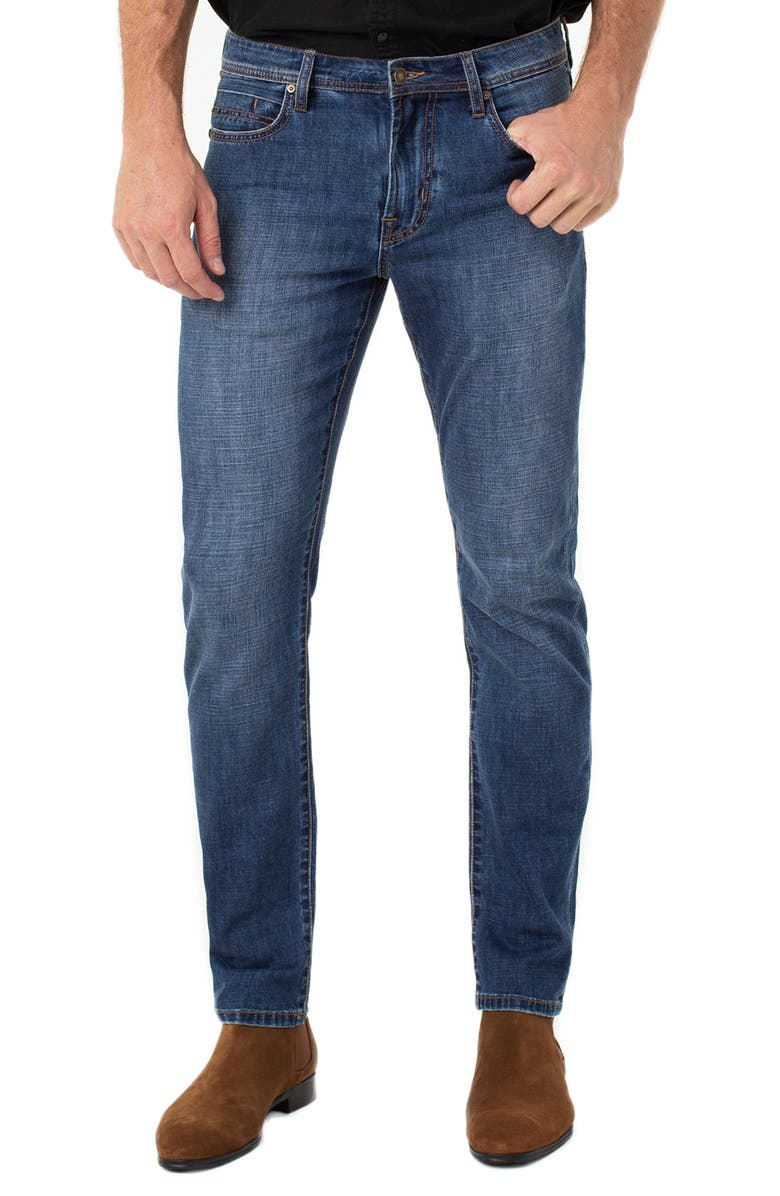 LIVERPOOL Kingston Slim Straight Leg Jeans, Main, color, ANDERSON MID