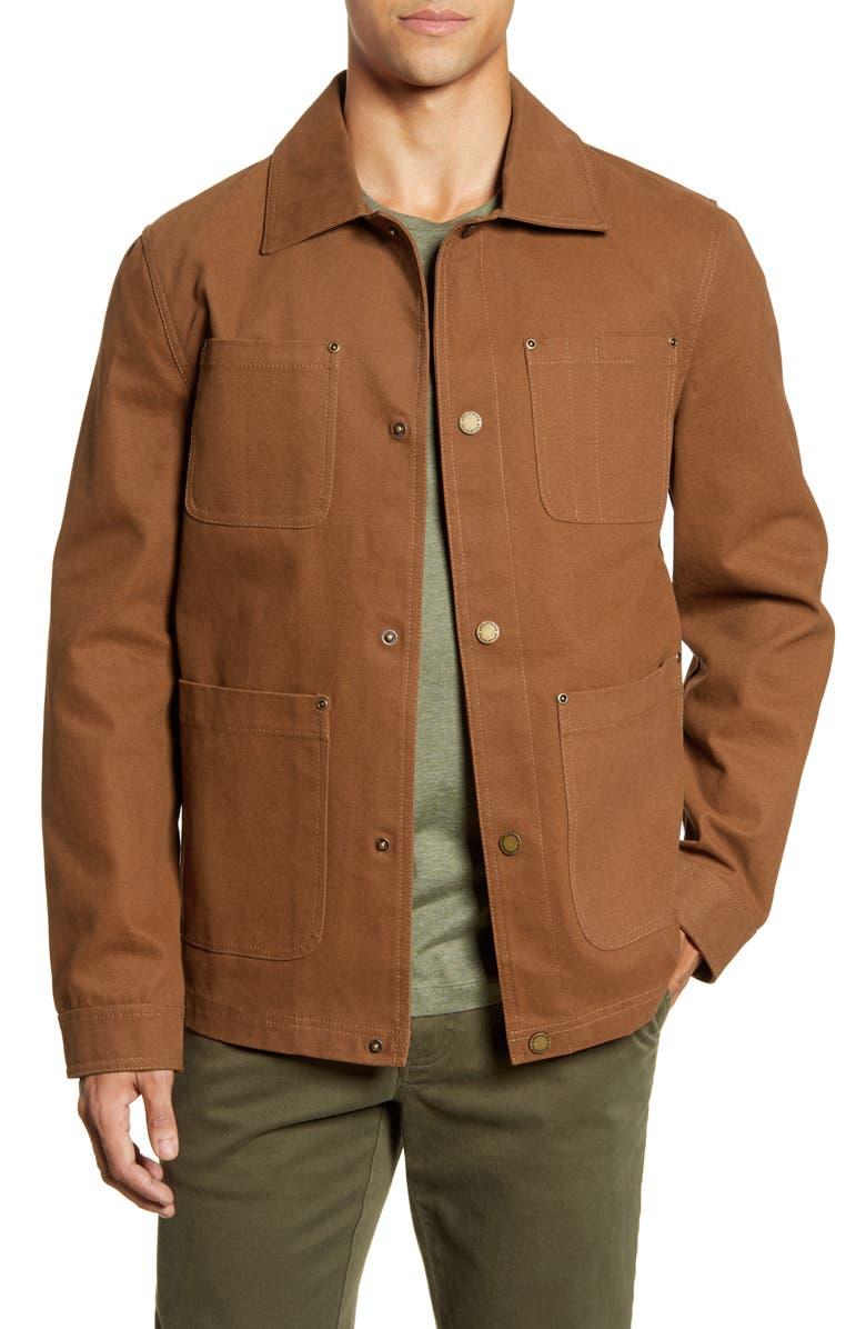 PENDLETON Baldwin Four Pocket Water Resistant Canvas Jacket, Main, color, WHISKEY