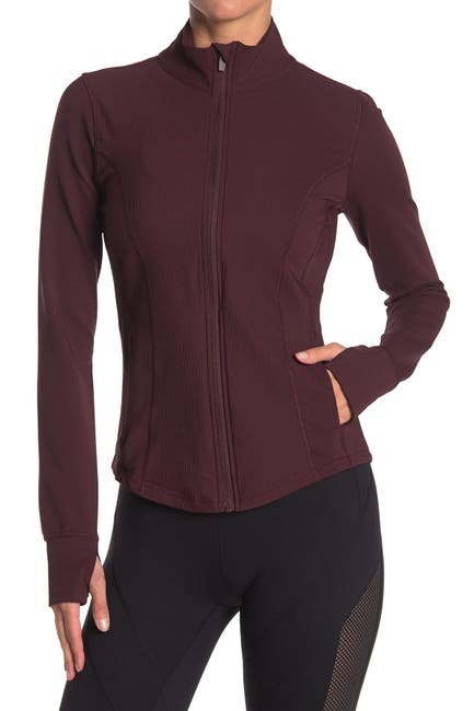 Image of 90 Degree By Reflex Interlink Thumbhole Zip Front Jacket