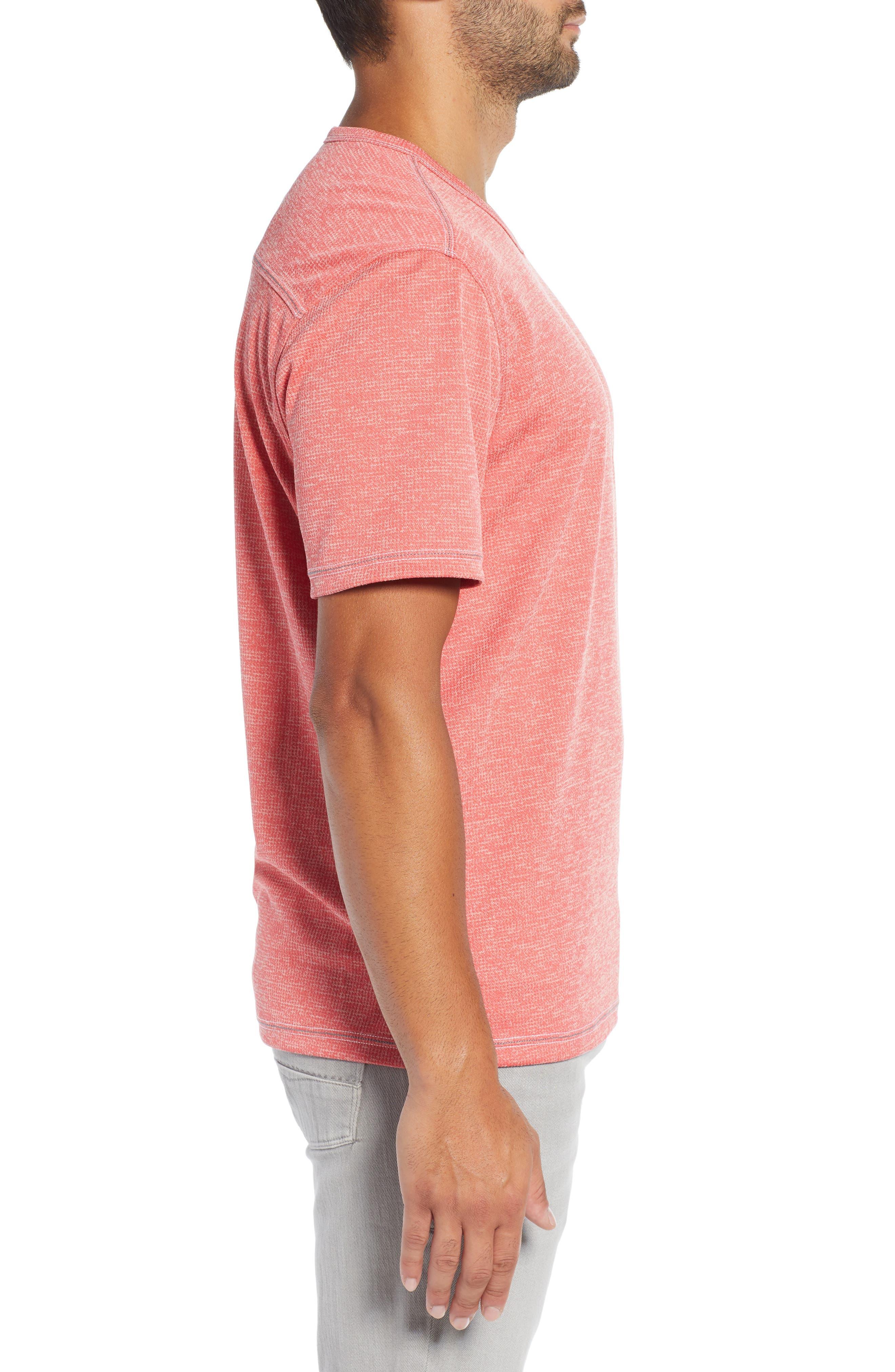 ,                             Sand Key V-Neck T-Shirt,                             Alternate thumbnail 3, color,                             CORAL HAZE