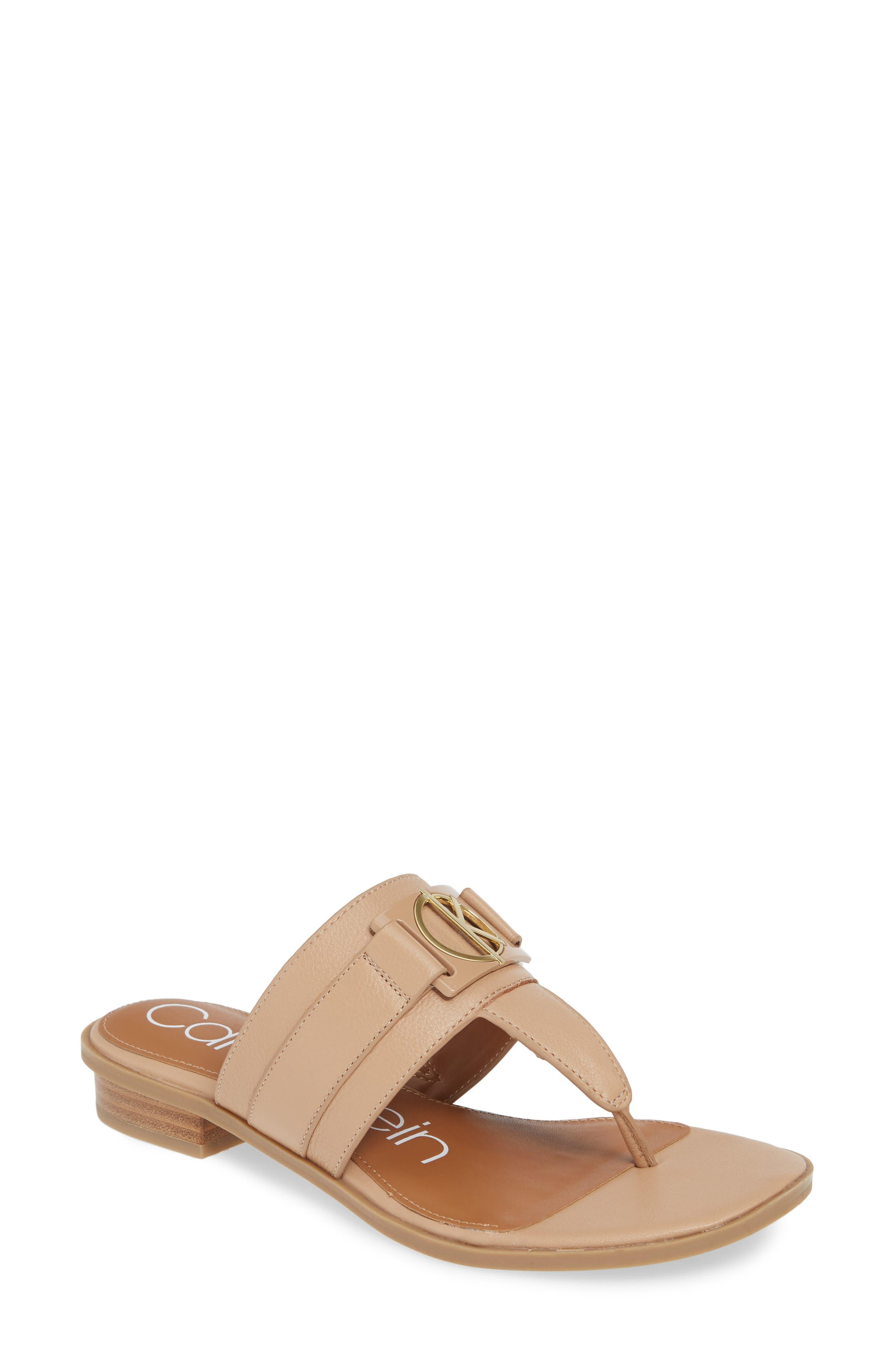 Calvin Klein Farley Flip Flop, Beige