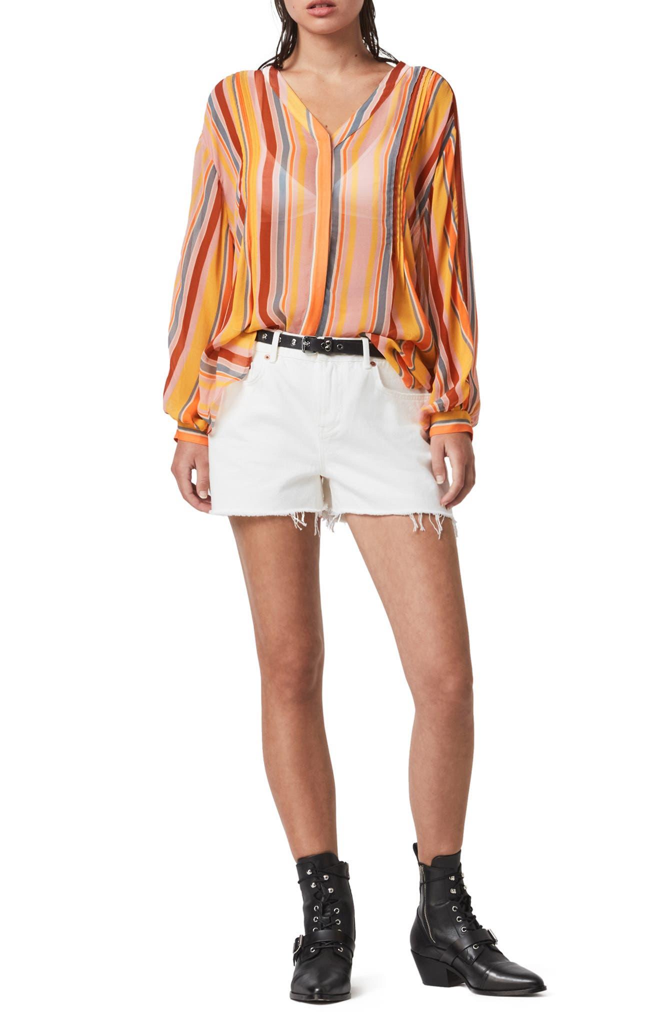 ALLSAINTS Adra Stripe Shirt | Nordstrom