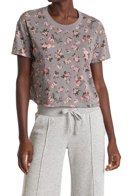 Image of Alternative Printed Cropped Knit T-Shirt