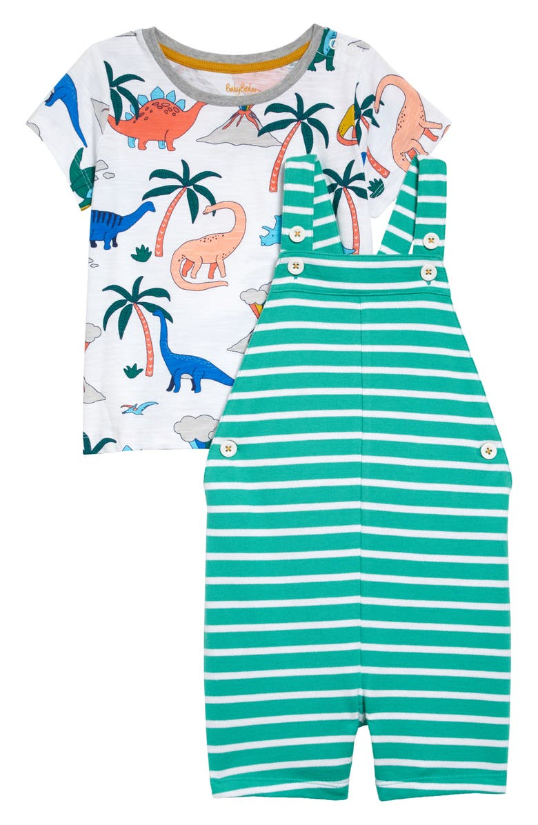 MINI BODEN Graphic Tee & Short Overalls Set, Main, color, 304