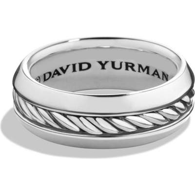 David Yurman Cable Inset Sterling Silver Band Ring