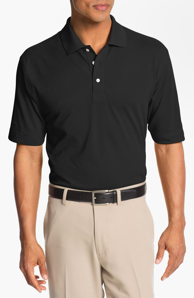 CUTTER & BUCK Championship DryTec Golf Polo, Main, color, BLACK