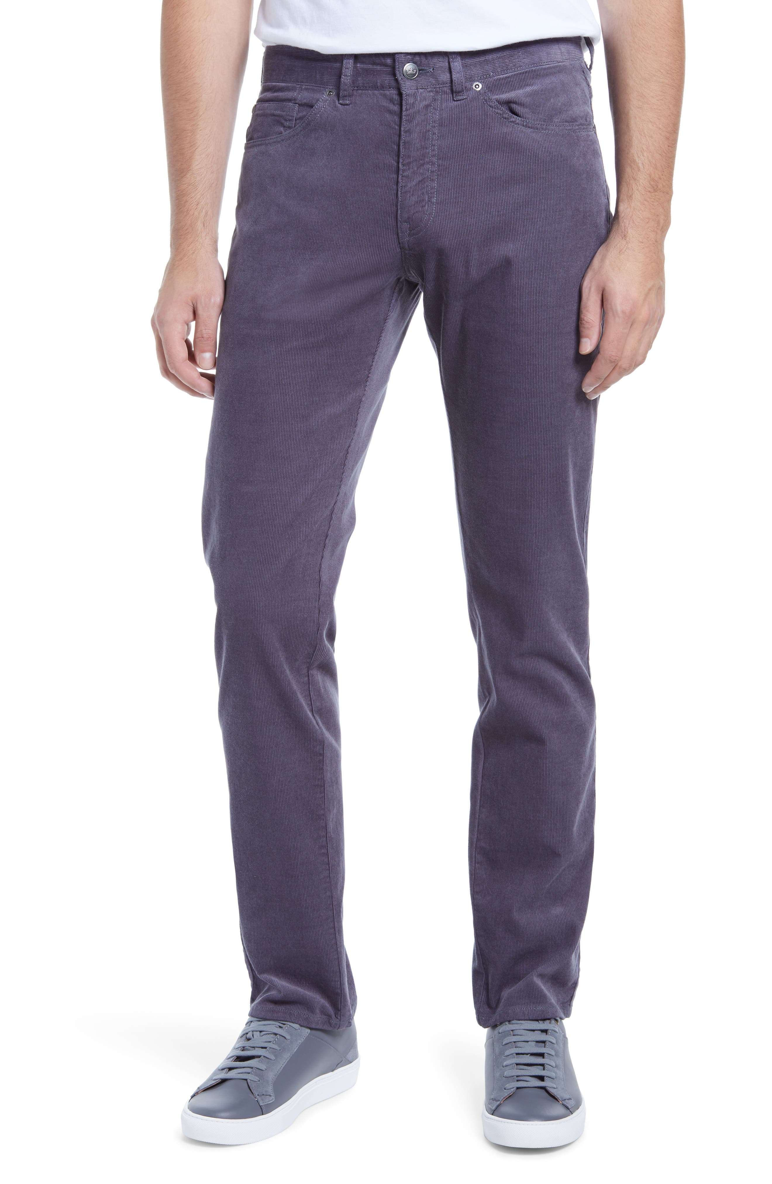 A five-pocket cut lends a casual feel to versatile pants cut from stretchy cotton/modal corduroy for flexible comfort. Style Name: Peter Millar Stretch Cotton Blend Corduroy Pants. Style Number: 6113630. Available in stores.
