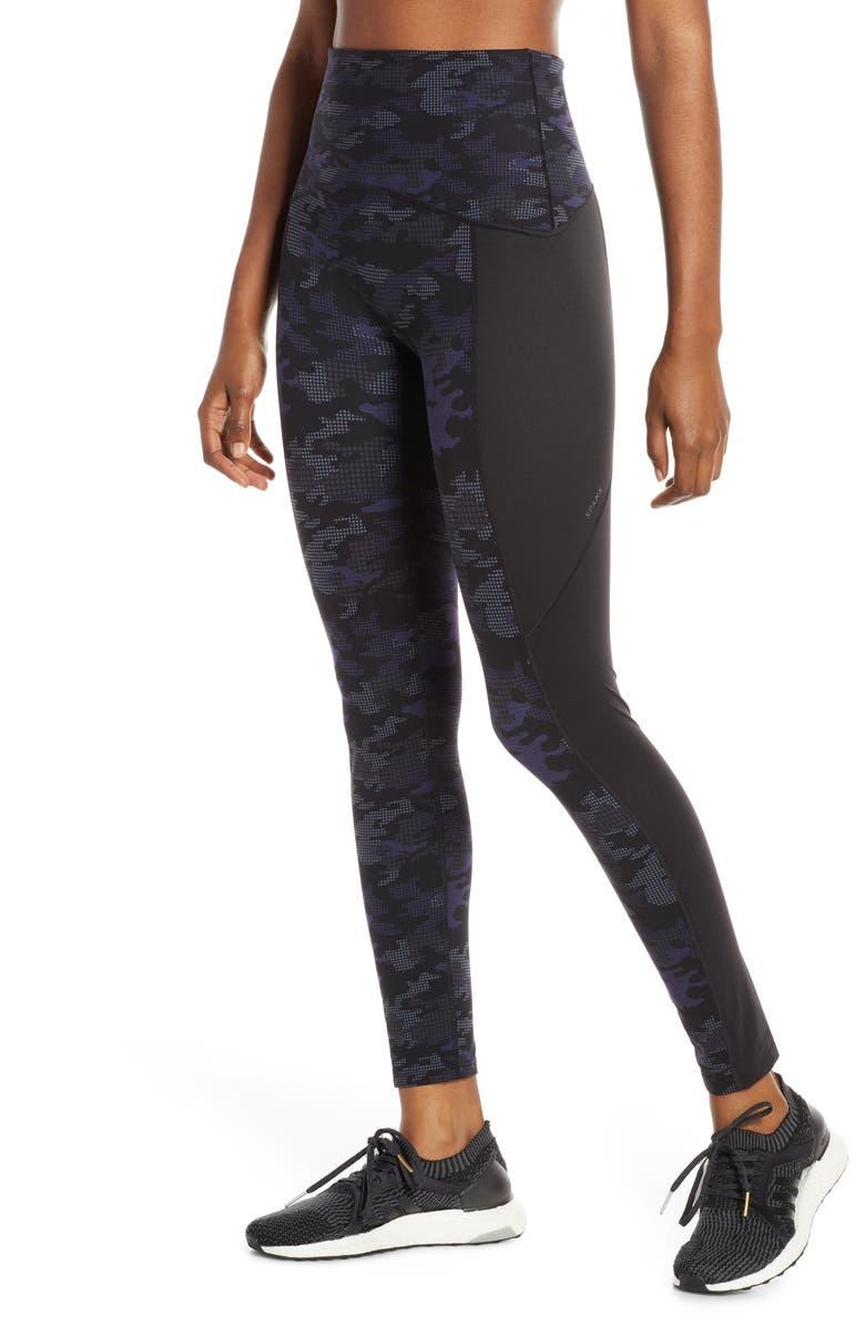 SPANX<SUP>®</SUP> Print Active Leggings, Main, color, GEO BLUE CAMO