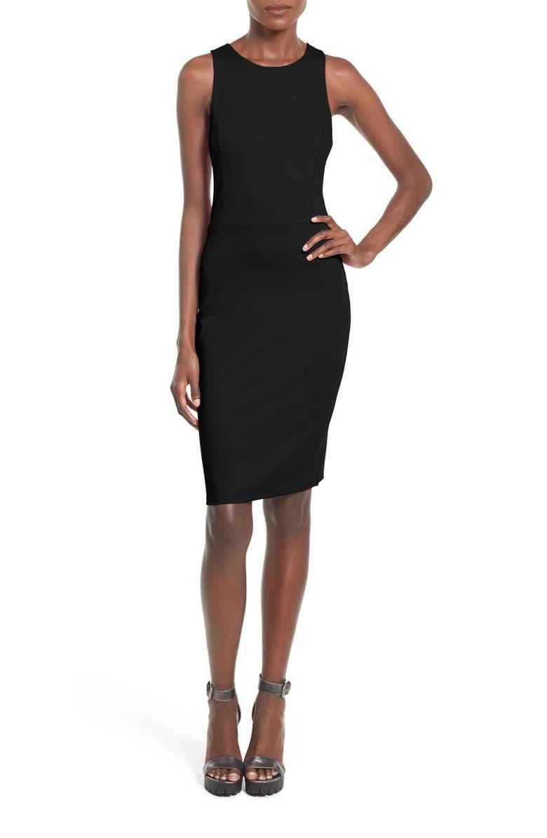 LEITH Split Back Body-Con Dress, Main, color, 001