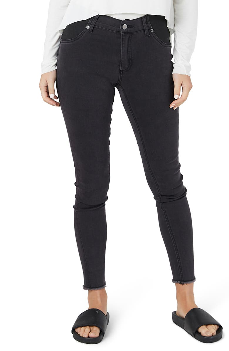 LEGOE. Romeo Maternity Jeans, Main, color, WASHED BLACK