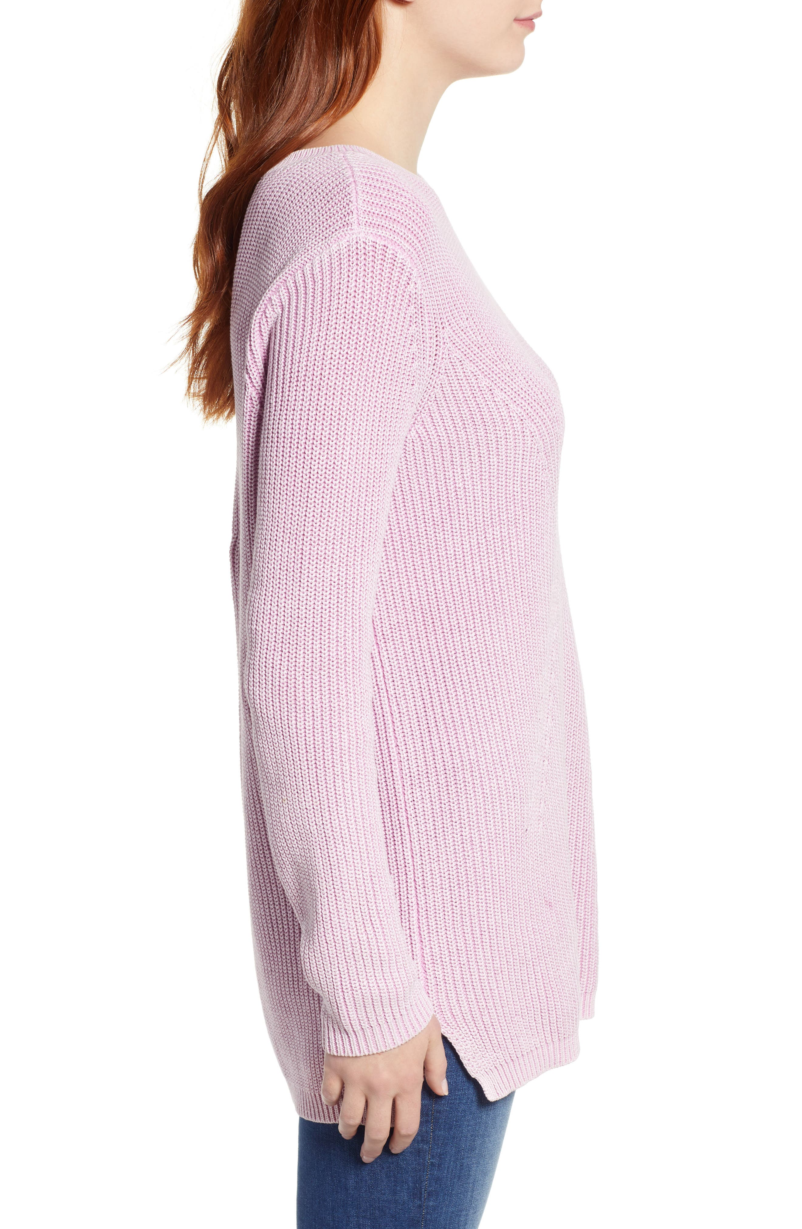 ,                             Tie Back Tunic Sweater,                             Alternate thumbnail 33, color,                             650