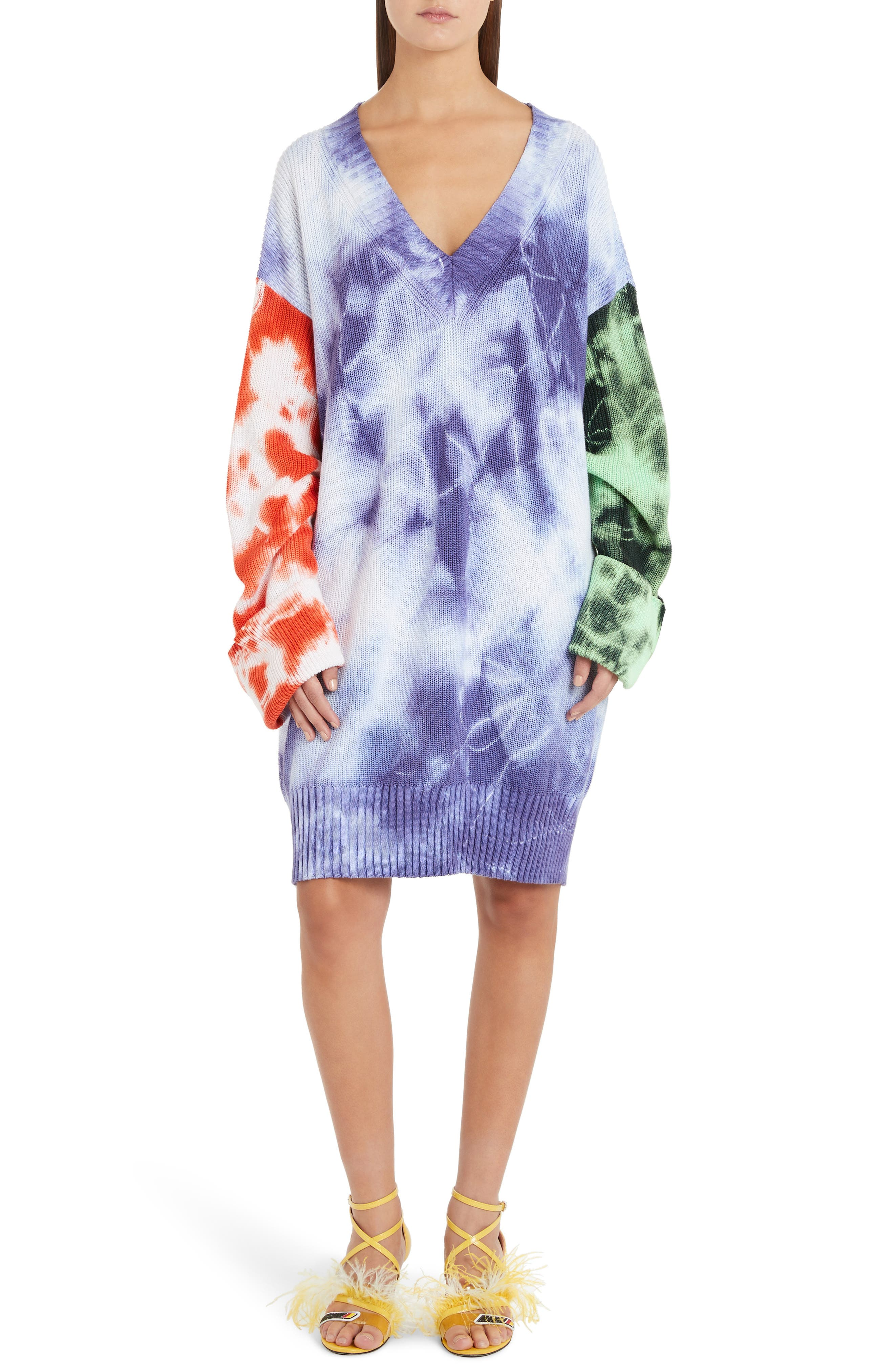 Oversize Tie Dye Sweater, Main, color, MULTICOLOR