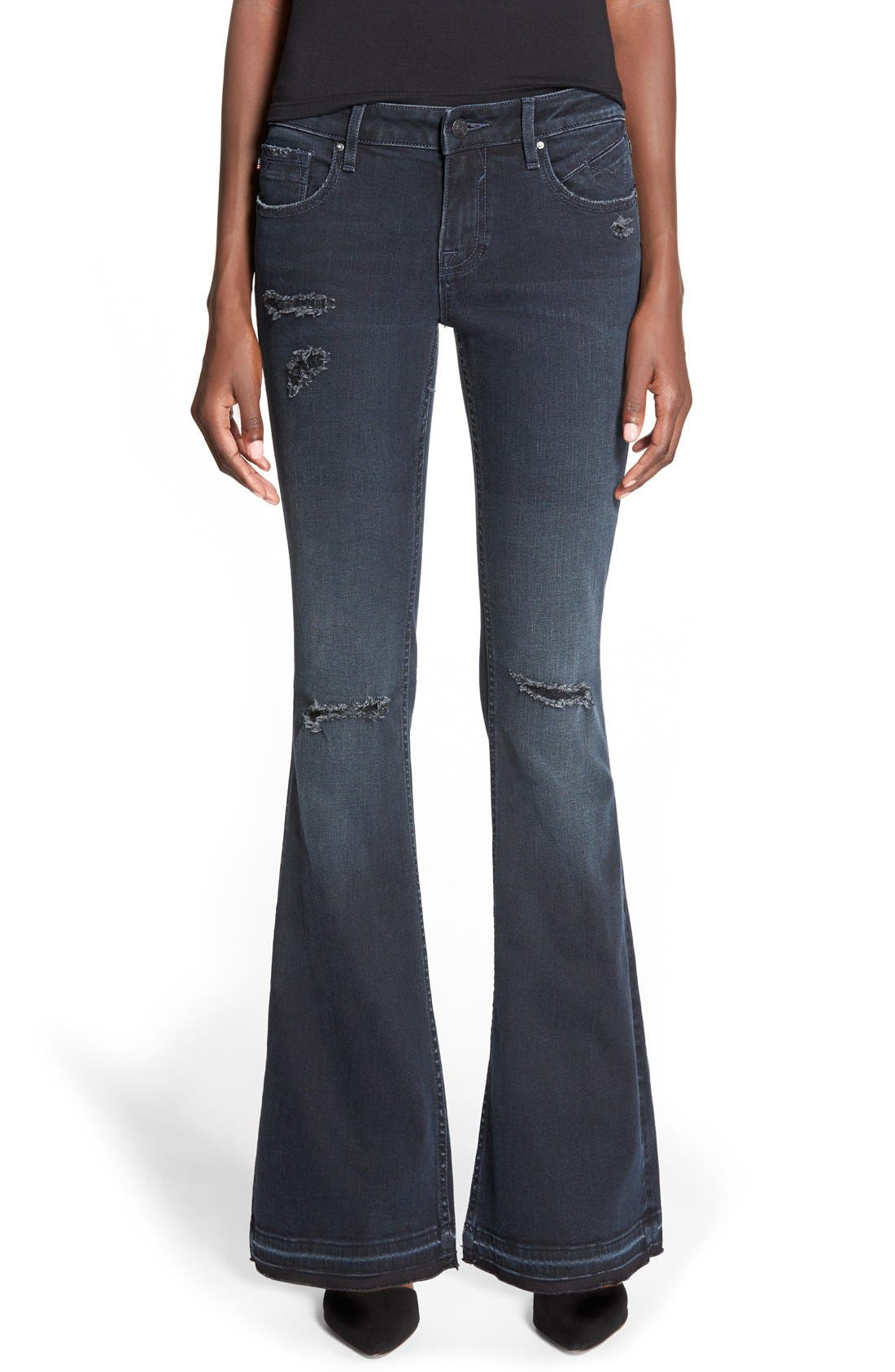 Women's Vigoss 'Boho Flare' Destroyed Jeans