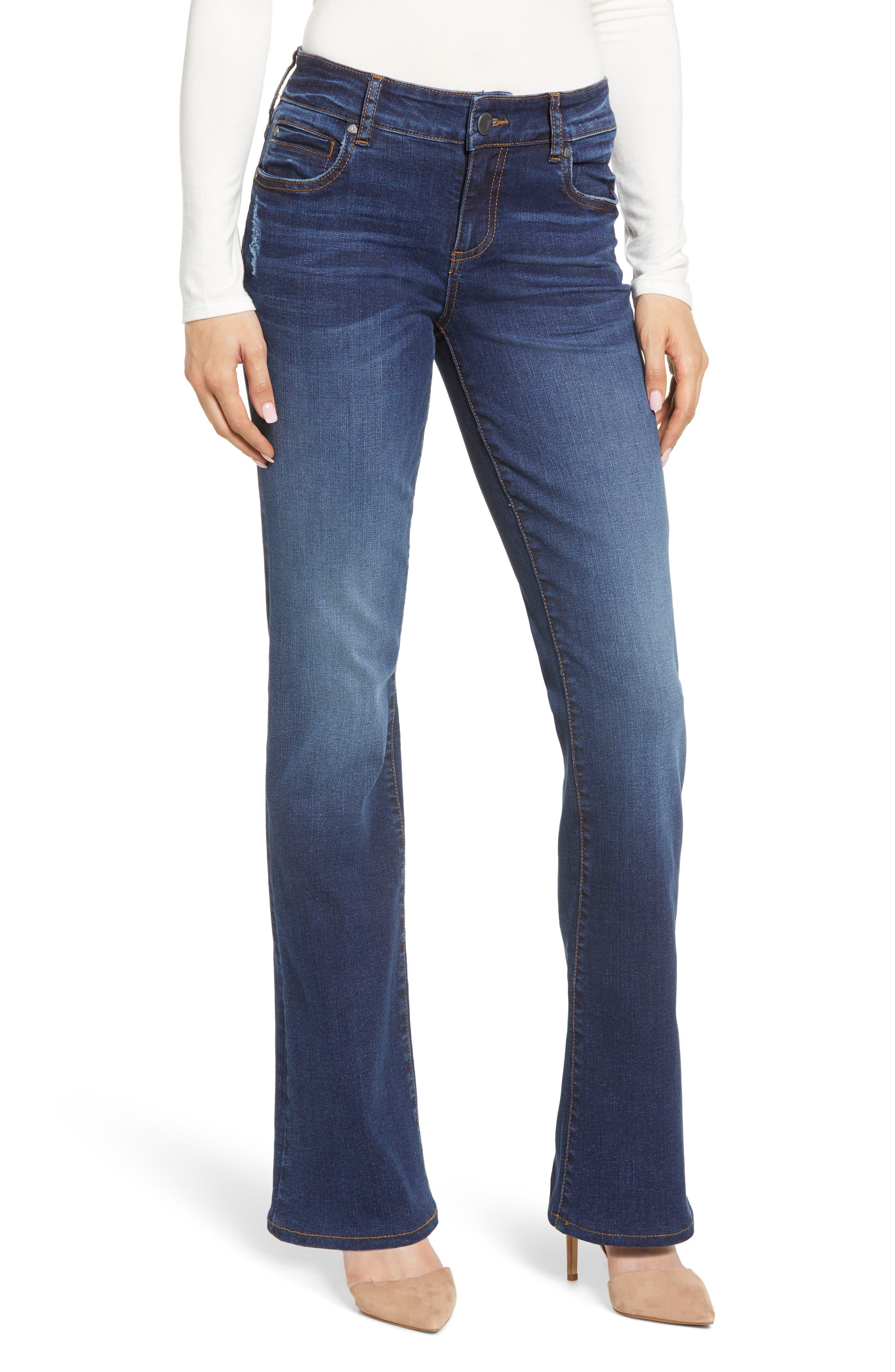KUT from the Kloth Natalie High Waist Bootcut Jeans (Search) (Regular & Petite)