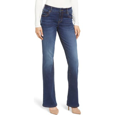 Petite Kut From The Kloth Natalie High Waist Bootcut Jeans, Blue